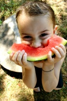 Kenny eating watermelon full color