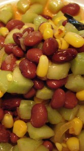 Kidney Bean Cucumber Salad